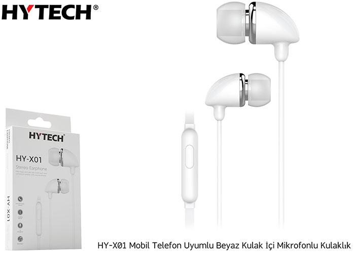 Hytech HY-X01 Mobil Telefon Uyumlu Beyaz Kulak İçi Mikrofonlu Kulaklık