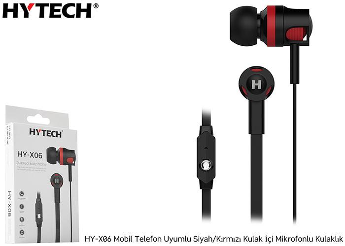Hytech HY-X06 Mobil Telefon Uyumlu Siyah/kırmızı Kulak İçi Mikrofonlu Kulaklık