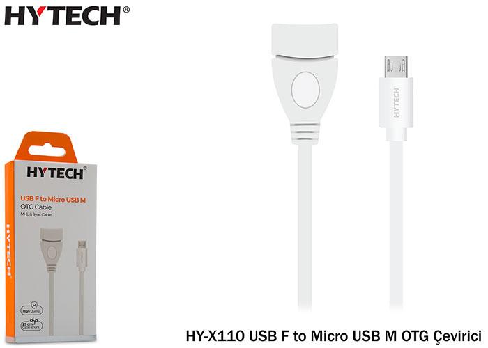 Hytech HY-X110 USB F to MicroUSB M OTG Çevirici