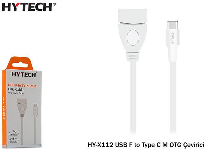 Hytech HY-X112 USB F to Type C M OTG Çevirici
