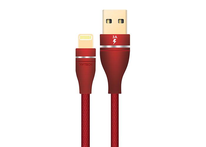 Hytech HY-X320 3A iPhone Lightning 1M, Kırmızı Şarj Kablosu