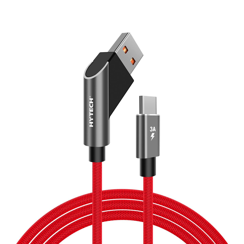 Hytech HY-X415 3A Type-C 1m Kırmızı Data + Şarj Kablosu