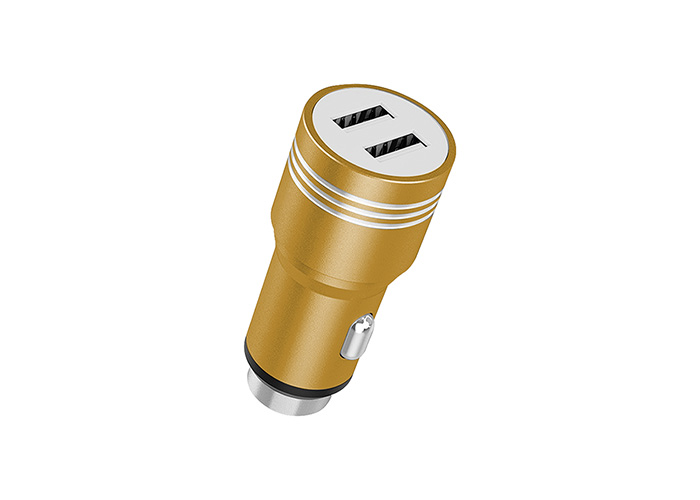 Hytech HY-X68M 3.1A Micro Kablolu 2 USB Karışık Renk Metal Araç Şarj Cihazı