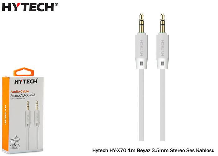 Hytech HY-X70 1m Beyaz 3.5mm Stereo Ses Kablosu