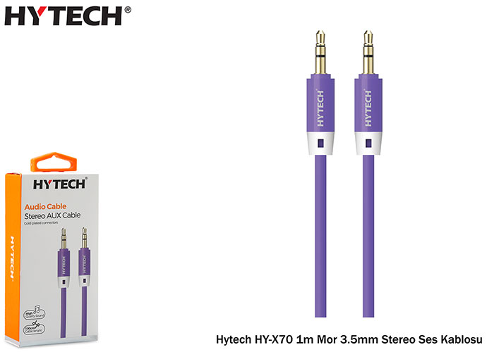 Hytech HY-X70 1m Purple 3.5mm Stereo Audio Cable