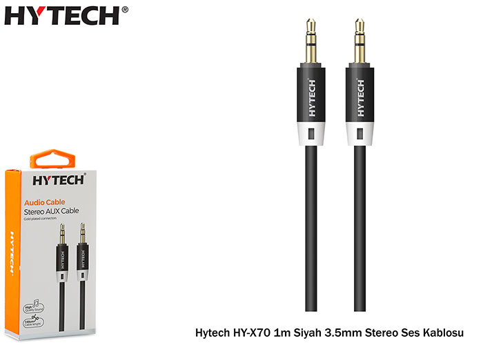 Hytech HY-X70 1m Black 3.5mm Stereo Audio Cable