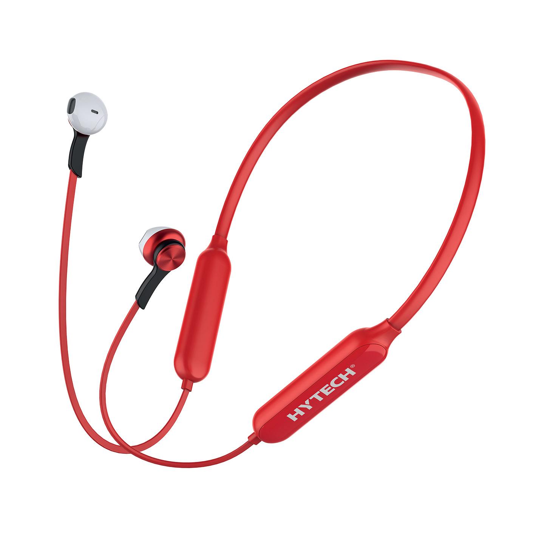 Hytech HY-XBK589 Kırmızı TF Kartlı Mıknatıslı Bluetooth Spor Kulak içi Kulaklık  Mikrofon