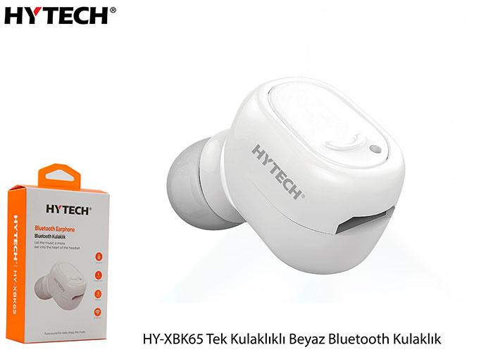 Hytech HY-XBK65 Tek Kulaklıklı Beyaz Bluetooth Kulaklık