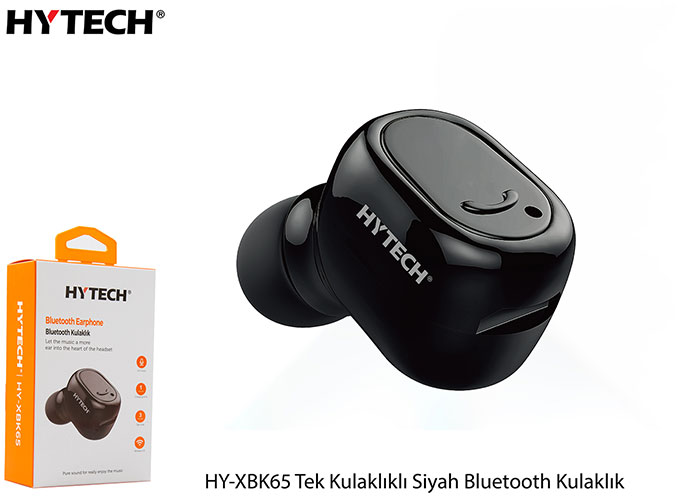 Hytech HY-XBK65 Tek Kulaklıklı Siyah Bluetooth Kulaklık