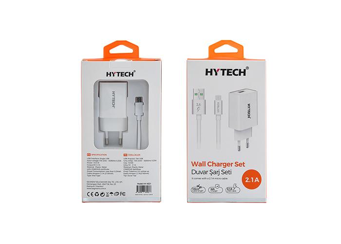 Hytech HY-XE21 5V 2.1A Micro USB Kablolu Ev Şarj Adaptörü