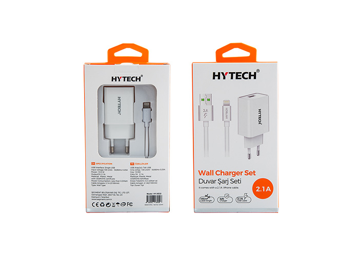 Hytech HY-XE22 2.1A Lightning Kablolu Ev Şarj Adaptörü
