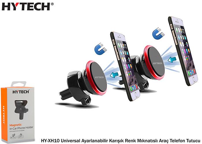 HYTECH HY-XH10 Universal Ayarlanabilir Karışık Renk Mıknatıslı Araç Telefon Tutucu