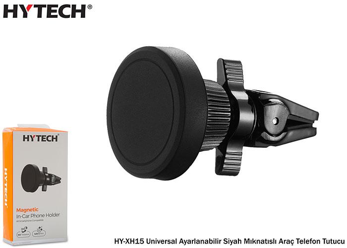 HYTECH HY-XH15 Universal Ayarlanabilir Siyah Mıknatıslı Araç Telefon Tutucu
