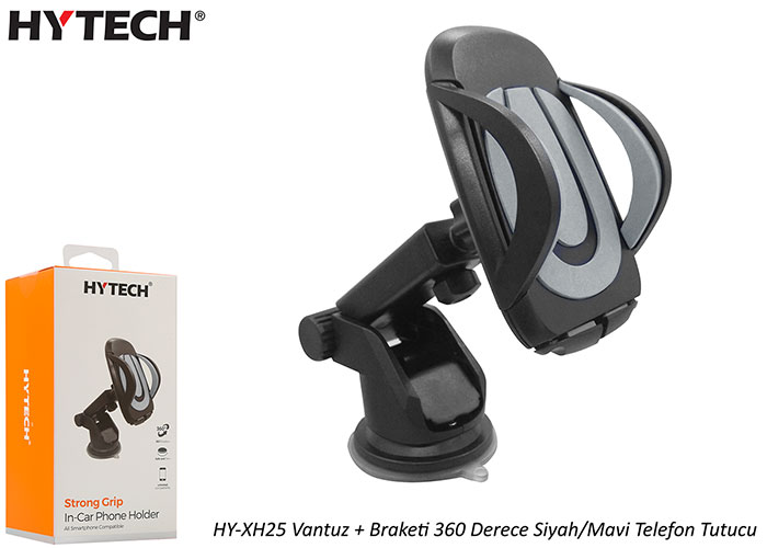 HYTECH HY-XH25 Suction Cup + Bracket 360 Degree Black / Gray Phone Holder