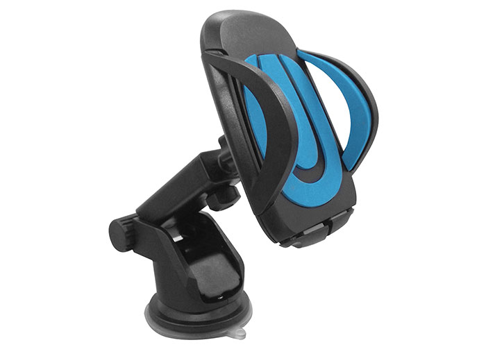 HYTECH HY-XH25 Vantuz + Braketi 360 Derece Siyah/Mavi Telefon Tutucu