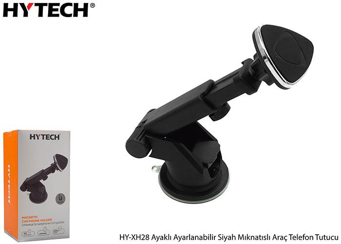 HYTECH HY-XH28 Ayaklı Ayarlanabilir Siyah Mıknatıslı Araç Telefon Tutucu