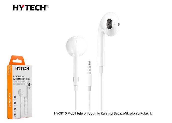 Hytech HY-XK10 Mobil Telefon Uyumlu Kulak içi Beyaz Mikrofonlu Kulaklık