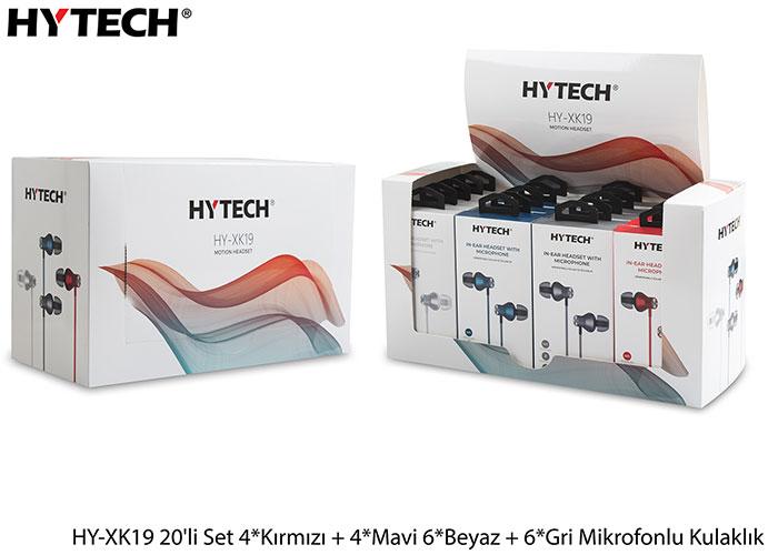 Hytech HY-XK19 20li Set 4*Kırmızı + 4*Mavi 6*Beyaz + 6*Gri Mikrofonlu Kulaklık