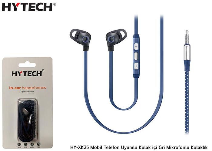 Hytech HY-XK25 Mobil Telefon Uyumlu Kulak içi Gri Mikrofonlu Kulaklık