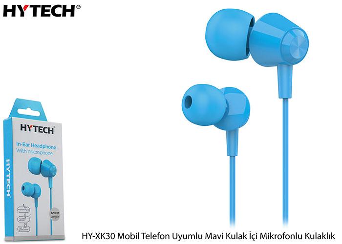 Hytech HY-XK30 Mobil Telefon Uyumlu Mavi Kulak İçi Mikrofonlu Kulaklık