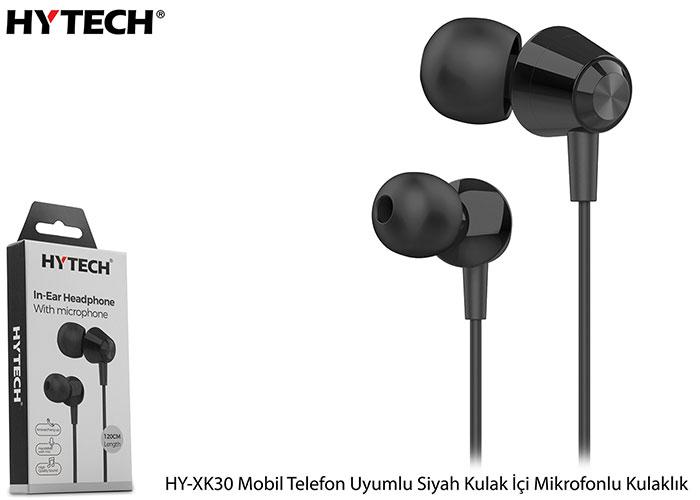 Hytech HY-XK30 Mobil Telefon Uyumlu Siyah Kulak İçi Mikrofonlu Kulaklık