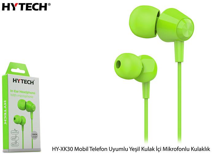 Hytech HY-XK30 Mobil Telefon Uyumlu Yeşil Kulak İçi Mikrofonlu Kulaklık