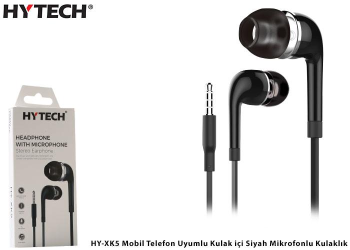 Hytech HY-XK5 Mobil Telefon Uyumlu Kulak içi Siyah Mikrofonlu Kulaklık