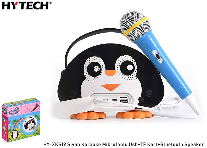 HYTECH HY-XKS19 Siyah Karaoke Mikrofonlu Usb+TF Kart+Bluetooth Speaker