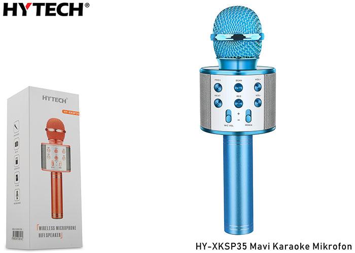 HYTECH HY-XKSP35 Mavi Karaoke Mikrofon