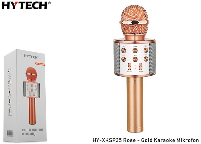 HYTECH HY-XKSP35 Rose-Gold Karaoke Mikrofon