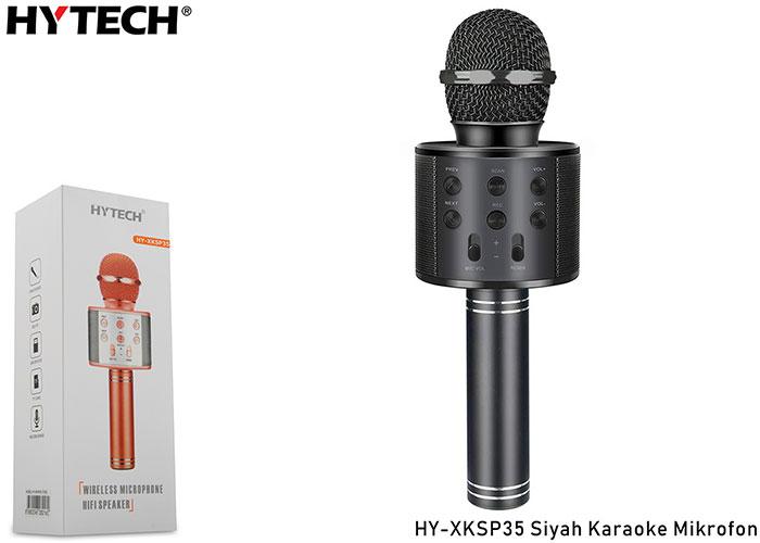 HYTECH HY-XKSP35 Siyah Karaoke Mikrofon