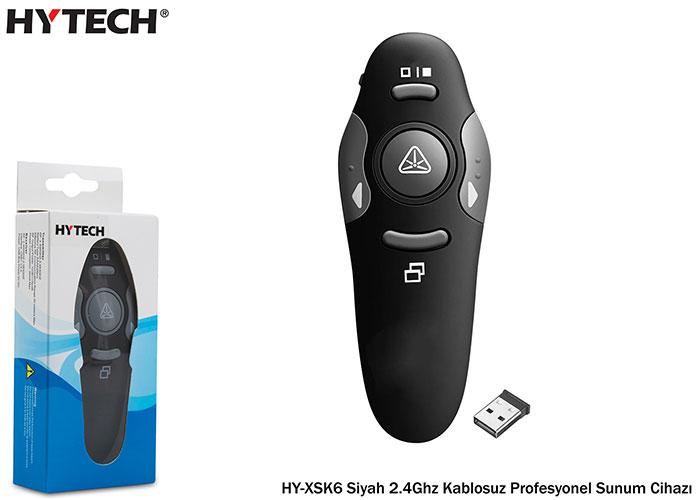 Hytech HY-XSK6 Siyah 2.4Ghz Kablosuz Profesyonel Sunum Cihazı