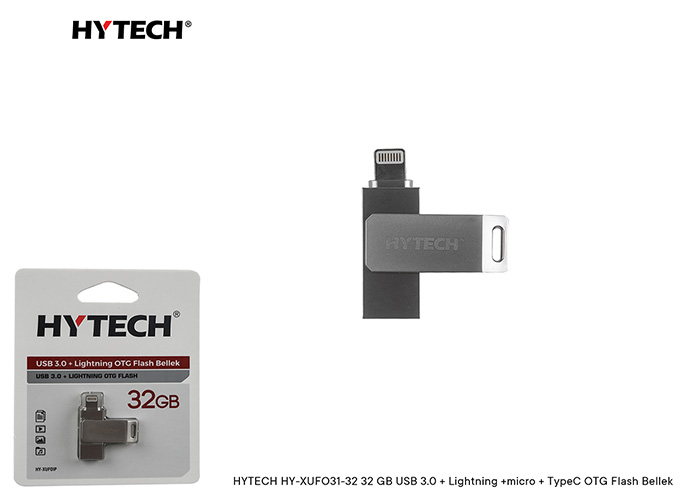 HYTECH HY-XUFOIP32 32 GB USB 3.0 + Lightning OTG Flash Bellek