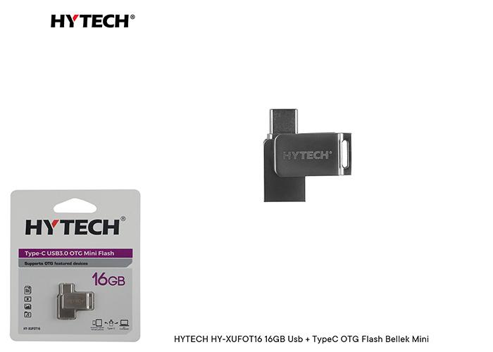 HYTECH HY-XUFOT16 16GB Usb + TypeC OTG Flash Bellek Mini