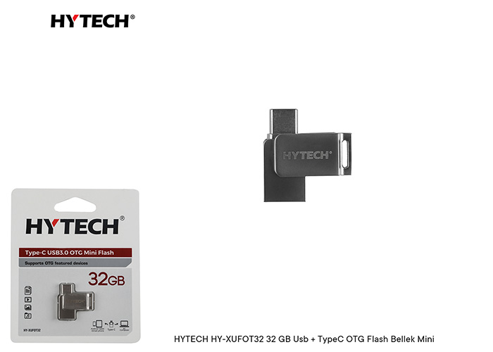 HYTECH HY-XUFOT32 32 GB Usb + TypeC OTG Flash Bellek Mini