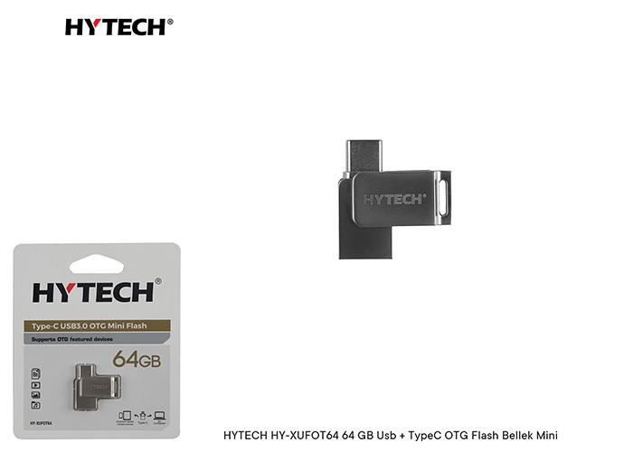 HYTECH HY-XUFOT64 64 GB Usb + TypeC OTG Flash Bellek Mini