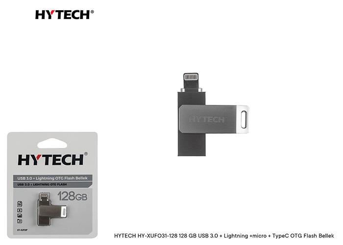 HYTECH HY-XUFOIP128 128 GB USB 3.0 + Lightning OTG Flash Bellek