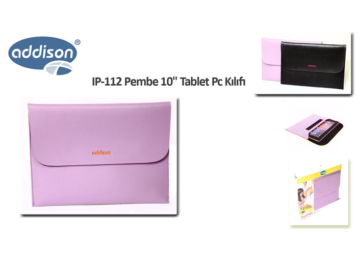 Addison IP-112 Mor 10 Tablet Pc Kılıfı