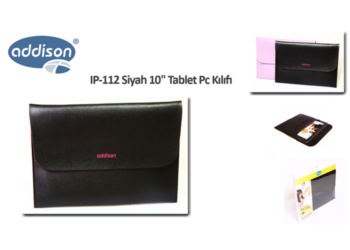 Addison IP-112 Siyah 10 Tablet Pc Kılıfı