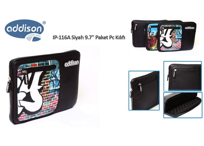 Addison IP-116A Siyah 9.7 Paket Pc Kılıfı