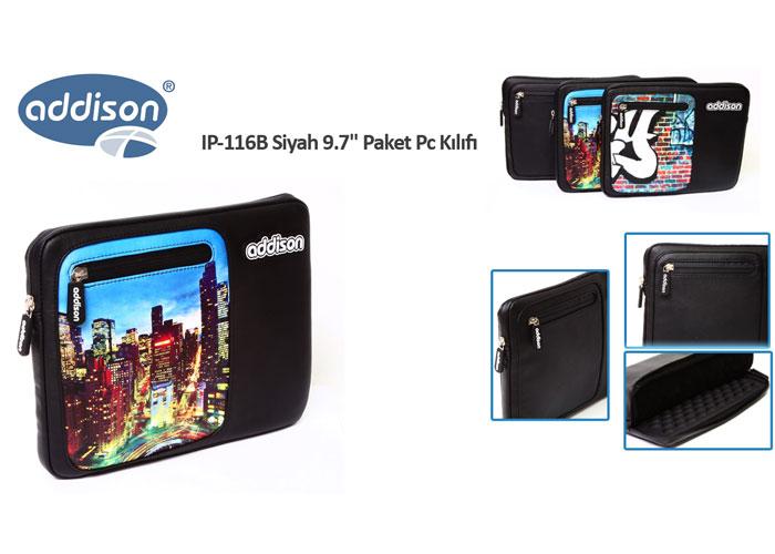 Addison IP-116B Siyah 9.7 Paket Pc Kılıfı