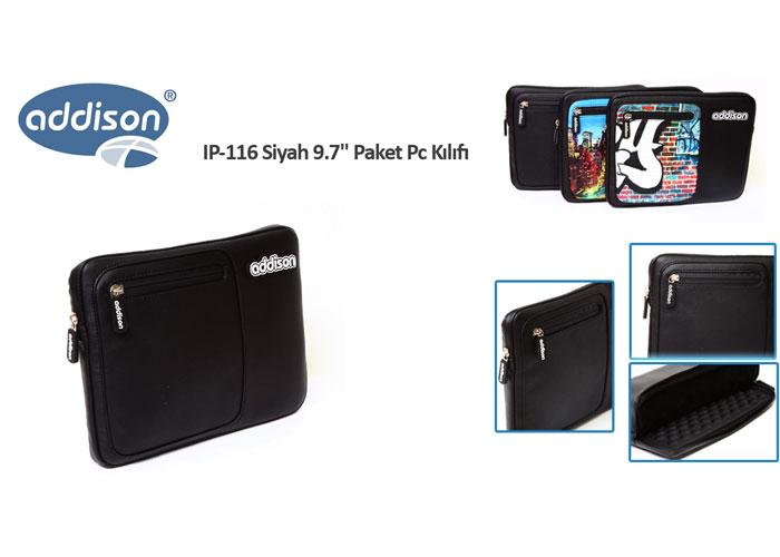 Addison IP-116 Siyah 9.7 Paket Pc Kılıfı