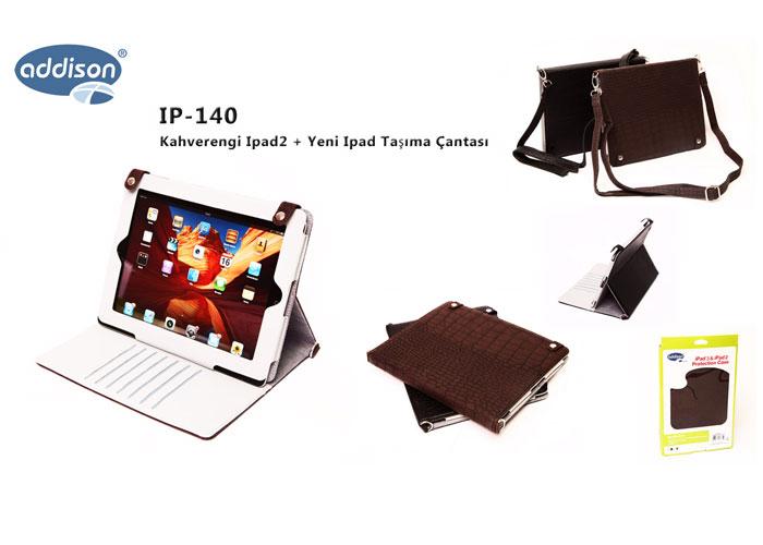 Addison IP-140 Kahverengi Ipad2 + Yeni Ipad Taşıma Çantası
