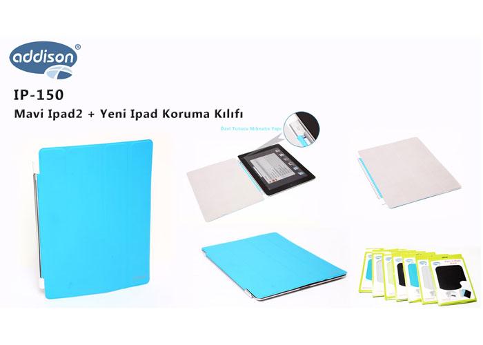 Addison IP-150 Mavi Ipad2 + Yeni Ipad Koruma Kılıfı