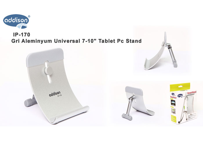 Addison IP-170 Gri Aleminyum Universal 7-10 Tablet Pc Stand