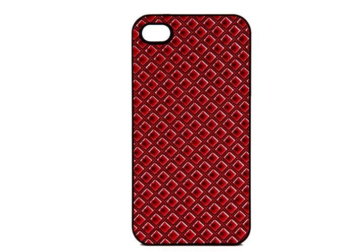 Addison IP-402 Kırmızı Iphone 4, 4S Kılıfı + Şeffaf Ekran Koruyucu