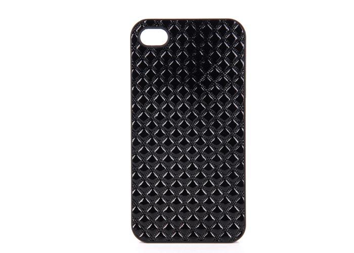 Addison IP-402 Black Iphone 4, 4S Case + Transparent Screen Protector