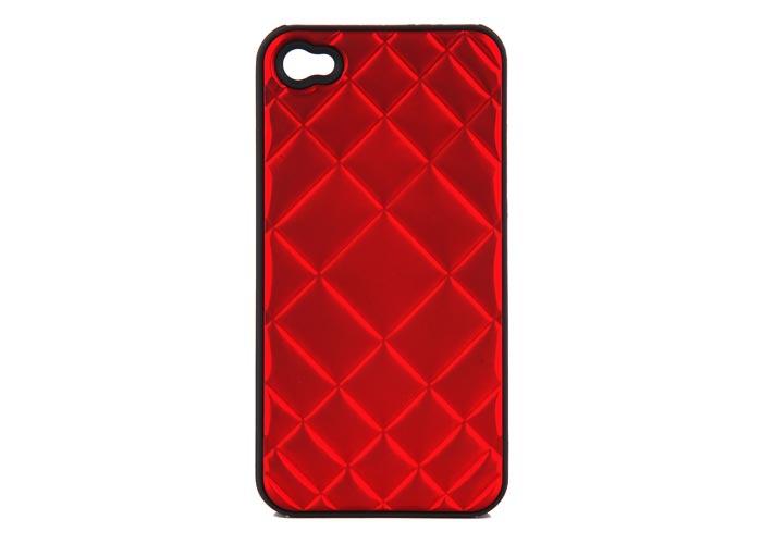 Addison IP-403 Kırmızı Iphone 4, 4S Kılıfı + Şeffaf Ekran Koruyucu