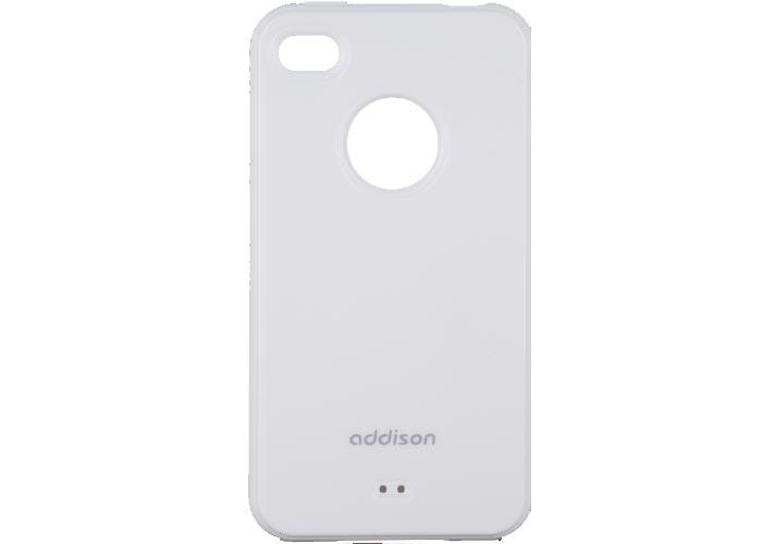 Addison IP-406 Beyaz Iphone 4, 4S Kılıfı + Şeffaf Ekran Koruyucu