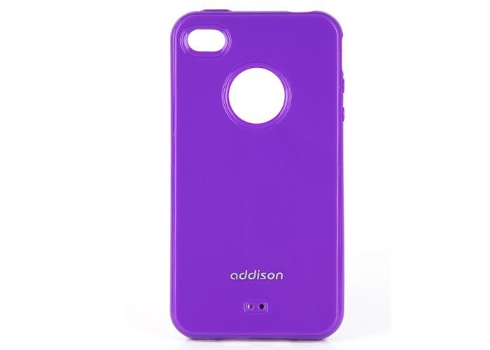 Addison IP-406 Mor Iphone 4, 4S Kılıfı + Şeffaf Ekran Koruyucu